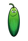 Smiling green cartoon cucumber vegetable Stock Photography