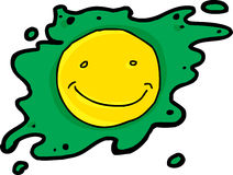 Smiling Green Fried Egg Royalty Free Stock Photo