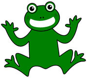 A smiling green frog Royalty Free Stock Image