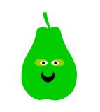 Smiling green pear Stock Image