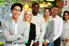 Smiling group business people Stock Photos
