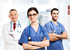 Smiling group of doctors Stock Photography
