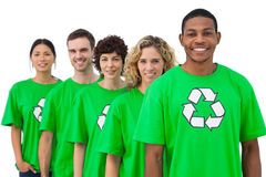 Smiling group of environmental activists Stock Photos