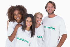 Smiling group of volunteers Royalty Free Stock Photo