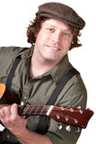 Smiling Guitar Player Royalty Free Stock Photo