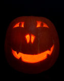 Smiling Halloween Pumpkin Royalty Free Stock Photo