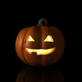 Smiling Halloween Pumpkin Stock Images