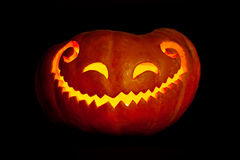 Smiling Halloween pumpkin Royalty Free Stock Images