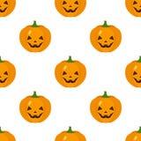 Smiling Halloween Pumpkin Icon Seamless Royalty Free Stock Photo