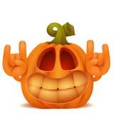 Smiling Halloween Pumpkin Jack Lantern emoticon cartoon character Royalty Free Stock Image