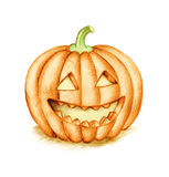 Smiling Halloween Pumpkin. Smiling Halloween Pumpkin. Hand drawing illustration Stock Photography