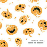Smiling Halloween pumpkins frame corner pattern Royalty Free Stock Photography