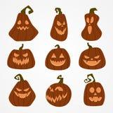 Smiling Halloween Pumpkins vector illustration