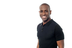 Smiling handsome african guy royalty free stock photos