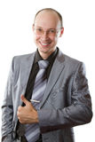 Smiling handsome businessman. stock photography