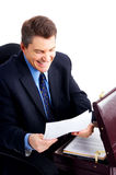 Smiling handsome businessman Stock Photography