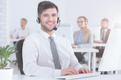 Customer service consultant at work Royalty Free Stock Photos