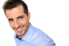 Smiling handsome guy Royalty Free Stock Photo