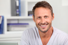 Smiling handsome man Stock Photography