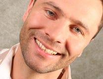 Smiling handsome man portrait. Close up Stock Photos