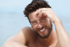 Smiling Handsome Man at the Sea Stock Photography