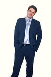 Smiling handsome young businessman Stock Images