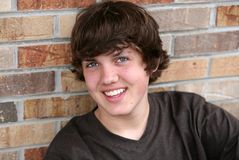 Smiling handsome young teen boy Royalty Free Stock Images