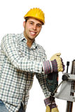 Smiling handyman Royalty Free Stock Image