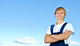 Smiling handyman Royalty Free Stock Photos