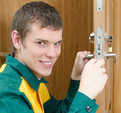 Smiling handyman Stock Photos