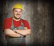 Smiling handyman Royalty Free Stock Images