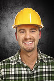 Smiling handyman portrait Stock Images