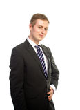 Smiling hansome businessman Stock Photos
