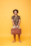 Smiling happy afro american man in summer clothes Royalty Free Stock Photography