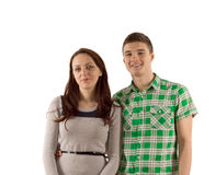 Smiling happy attractive young couple Stock Photography