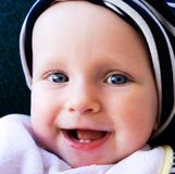 Smiling and happy baby  Royalty Free Stock Photos