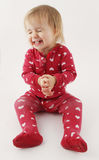 Smiling happy baby girl Stock Images