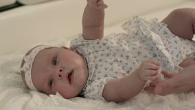 Smiling happy baby stock footage