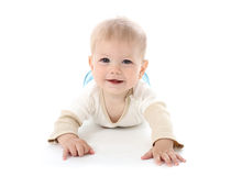 Smiling Happy Baby on White Stock Photos
