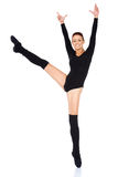 Smiling happy ballet dancer Royalty Free Stock Photo