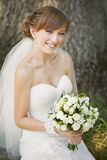 Smiling happy bride Stock Images