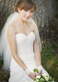 Smiling happy bride Stock Image
