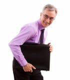 Smiling happy businessman Stock Image