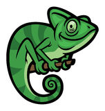 Smiling happy Chameleon. Vector of Smiling happy Chameleon Royalty Free Stock Photography