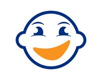 Smiling Happy Child or Boy Face Illustration. Isolated vector illustration