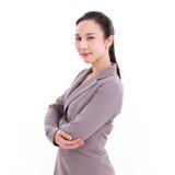 Smiling, happy, confident female business executive Stock Photos
