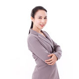 Smiling, happy, confident female business executive portrait Stock Images