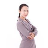 Smiling, happy, confident female business executive portrait Stock Images