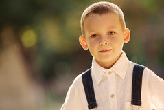 Smiling happy confident little boy Royalty Free Stock Photography