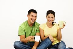 Smiling happy couple. Stock Image